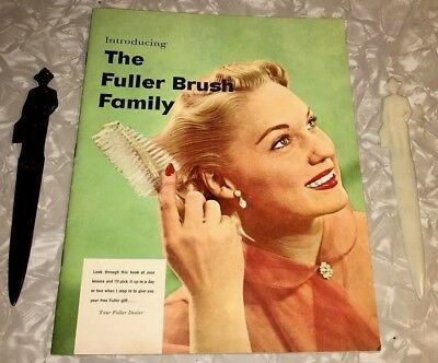 FULLER BRUSH BROCHURE VINTAGE 2-LETTER-OPENERS 1950s NICE-CONDITION VANITY COLOR