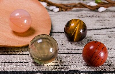 4Pcs Natural Citrine,Red Jasper,Banded Red Agate,Tiger Eyes Beads