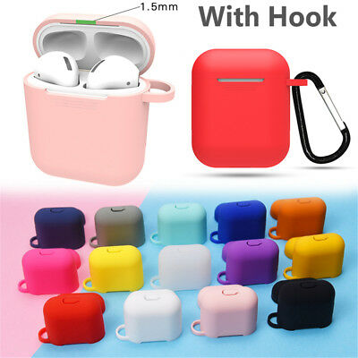 AirPods Accessories Case Protective Silicone Cover Skin Strap For Apple Air Pod~