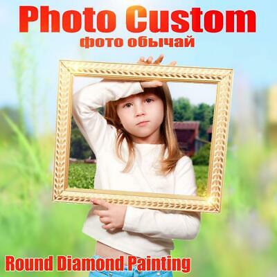 Huacan Photo Custom Diamond Embroidery Full Round Crystal Diamond Painting Cr...