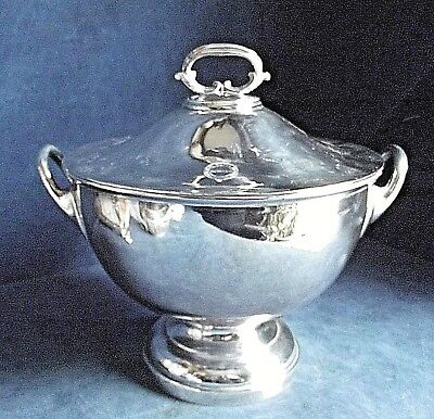SUPERB Large ~ SILVER Plated ~ Soup / Serving TUREEN ~ c1930 by James Dixon