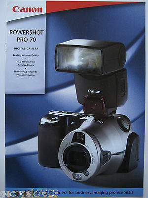 Canon Powershot 70 film camera sales brochure - 10 pages