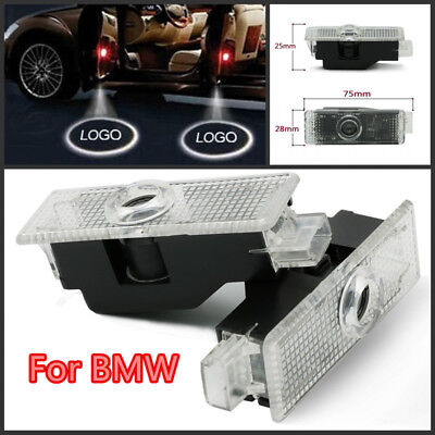 2x CREE LED Door Light For BMW Logo Projector Courtesy Puddle Shadow Laser Lamp