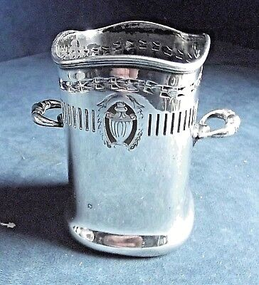 SUPERB ~ SILVER Plated ~ BOTTLE / CUTLERY Holder ~ c1920 by William Suckling