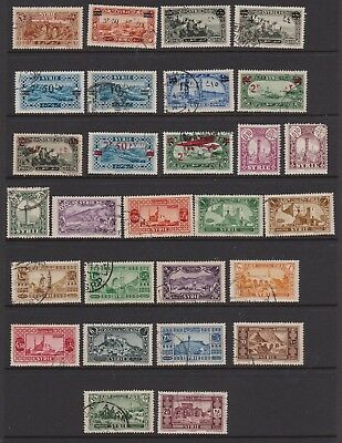 SYRIA 1926-1931 thirty-four used