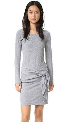 acf871071 MONROW BRAND NEW w/Tags TIE FRONT DRESS IN GRANITE Size Small Retail $146.00
