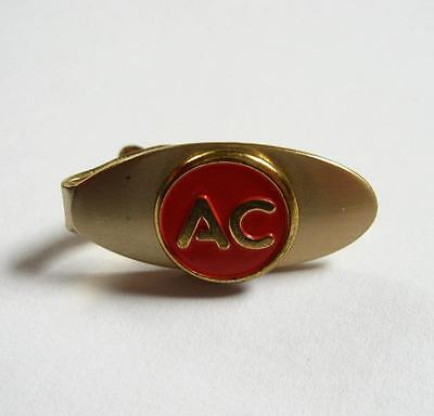 Vintage AC Spark Plugs Small Tie Bar Clip Gold Tone Advertising Champion