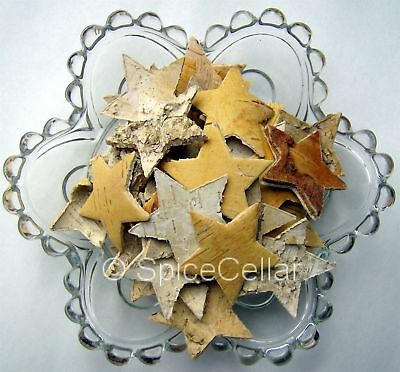 Birch Bark Stars - Bag of 25 x 4cm - Christmas Decorations - Pot Pourri