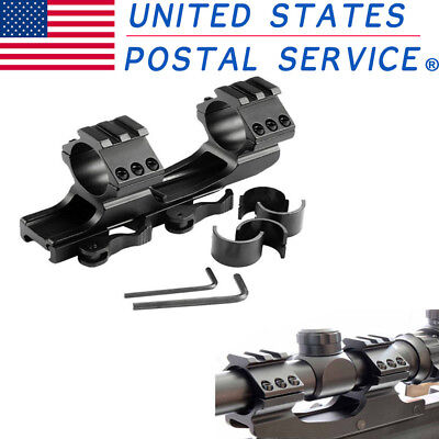 """1"""" 25mm/30mm Dual Ring Scope Mount Cantilever Quick Release Cantilever Rail"""