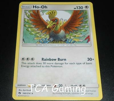 Ho-Oh 160/214 SM Lost Thunder Set RARE Pokemon Card NEAR MINT