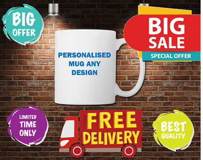 Personalised Mug Custom Cup Your Text Image Logo Design