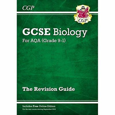 New Grade 9-1 GCSE Biology: AQA Revision Guide with Onl - Paperback NEW Books, E