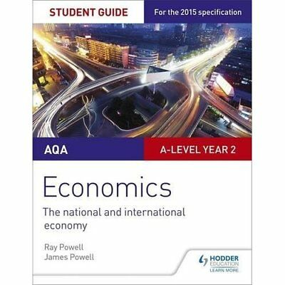 AQA A-level Economics Student Guide 4: The national and - Paperback NEW Powell,