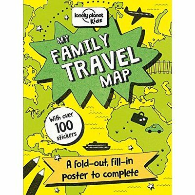 My Family Travel Map - Paperback NEW Kids, Lonely Pl 04/07/2017