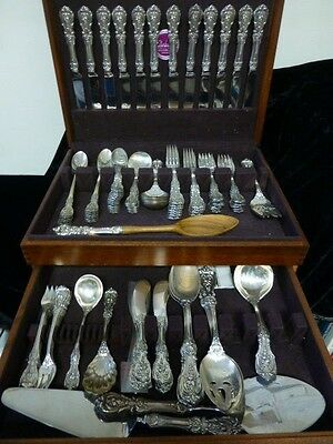Beautiful Reed & Barton Sterling Silver 109 Piece Set - Francis I Pattern