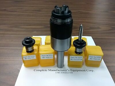 """3/4"""" shank tapping head collet chuck floating & 8 positive drive P-type adapters"""