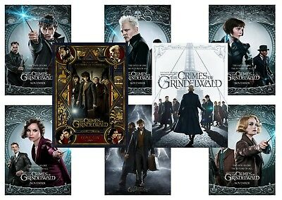 Fantastic Beasts the Crimes of Grindelwald: A5 A4 A3 character &  Movie Posters