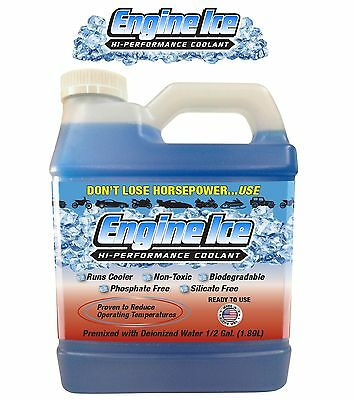 Engine Ice Hi-Performance Coolant 0.5 Gallons 1.89L Car Truck SUV Universal