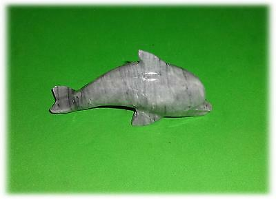"""Solid Marble Gray Dolphin 5 5/8"""" Long Very Cool"""