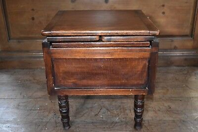 An early 19th century mahogany campaign  commode