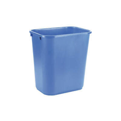 TOUGH GUY Plastic Desk Recycling Container,Blue,7 gal., 4UAU5, Blue