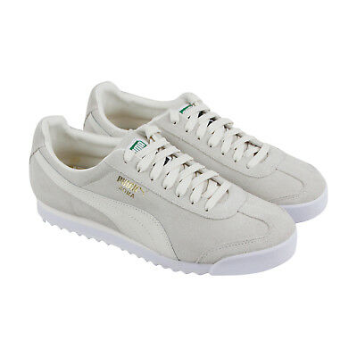 803c67ac07a PUMA ROMA SUEDE Mens White Suede Lace Up Sneakers Shoes -  37.99 ...