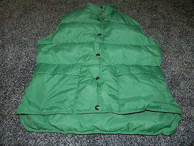 VINTAGE Woolrich Winter Vest Green Puffer Down Feather Filled  USA S