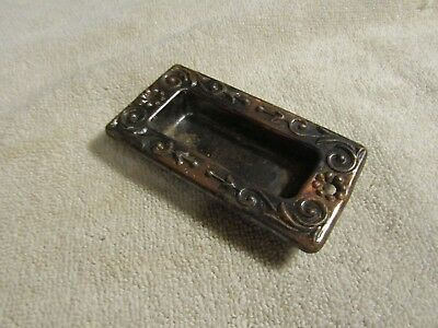 Antique Victorian Very Ornate Decorate Sliding Door Knob Indented Cover Plate