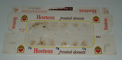 1970's Hostess Cakes FROSTED DONUTS product box