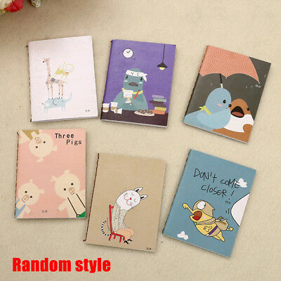 Cute Mini Cartoon Notebook Handy Pocket Notepad Paper Journal Diary Portable