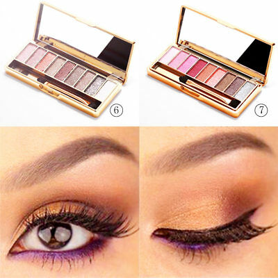 Glitter 9 Colors Eyeshadow Eye Shadow Palette & Makeup Cosmetic New Brush Set