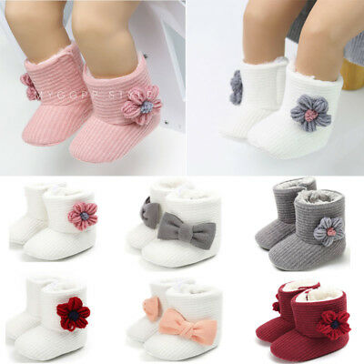 Newborn Baby Girl Winter Cotton Diamonds Shoes Toddler First Walkers Shoes New