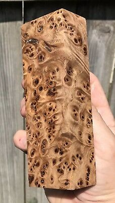 Stabilized Siberian Elm burl knife Block    5.37 x 1.75 x 1.20   (1025)