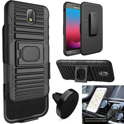 Phone Case For Samsung Galaxy J7v 2nd Gen Holster Cover Stand Magnetic Car Mount