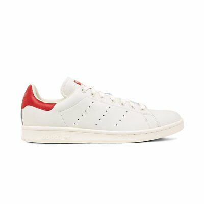 Adidas Originals Stan Smith Mens Shoes White Red Sneakers - Size US 9 1/2 & 10