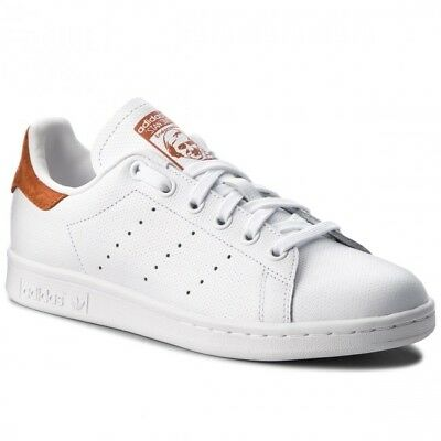 Adidas Originals Stan Smith Mens Shoes White Fox Red Skate Sneakers - Size US 10