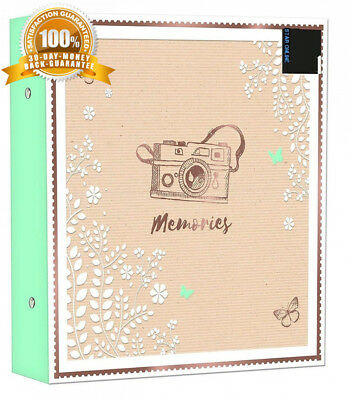 Large Ringbinder Photo Album 500 Photos Memories Holds 6x4 - Designed with a...