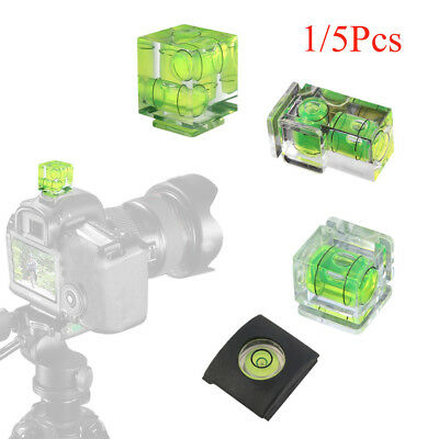 1/2/3-Axis 3D Shoe Bubble Spirit Level Protector Cap For DSLR Camera Cover New~