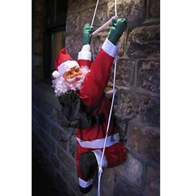 Christmas Party Ornaments Climbing Santa + Rope Ladder Indoor Outdoor Decoration