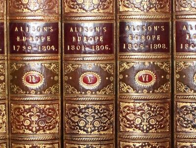 1844 History Of Europe ALISON 1789-1815 10 Volumes French Revolution Napoleon
