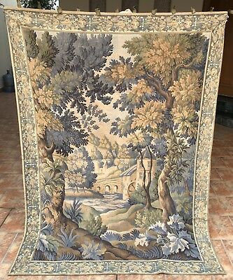 Antique French Tapestry Rare Aubusson Style - 140 By 200 Cm