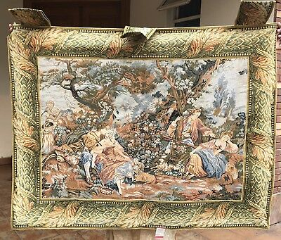 Antique French Tapestry Aubusson Style - 99 By 101 Cm