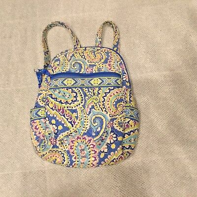d4de5613c622 Vera Bradley Capri Blue Paisley Backpack Retired Pattern Bookbag   Shoulder  Bag