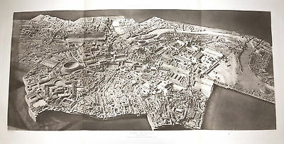 11 ~ ANCIENT ROME PLAN COLOSSEUM CIRCUS MAXIMUS ~ 1910 Architecture Art Print