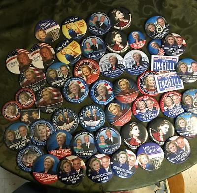 Lot Of 50 Assorted Hillary Clinton Presidential Campaign Pinbacks Lot A