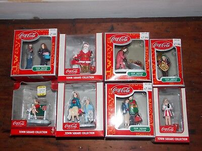 8 Coca-Cola Town Square Collection Figures