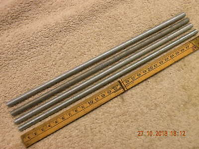 4 off M8 Studding 8mm threaded bars Stainless 300mm long M8 x 1.25 metric coarse