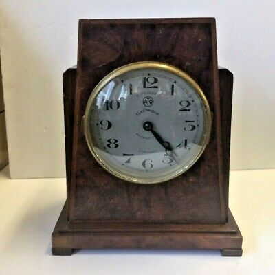 Antique Art Deco mantel clock ATO BREVETE S.G.D.G LD  battery conversion
