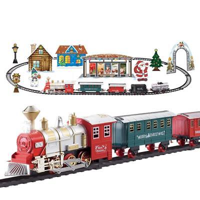 Santa's Express Delivery Train Set Christmas Tree Sounds Lights Battery Display