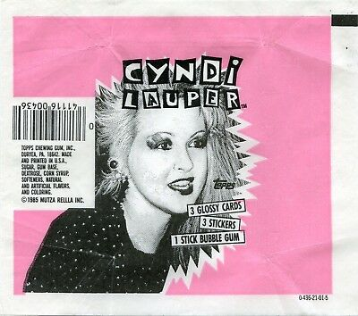 CYNDI LAUPER 1985 Trading Card set Wrapper!!! Topps - Variety 2